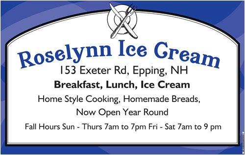 Roselynn Ice Cream Epping Nh Breakfast Restaurant Opening